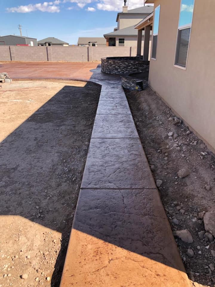 concrete walkway that looks amazing colored concrete