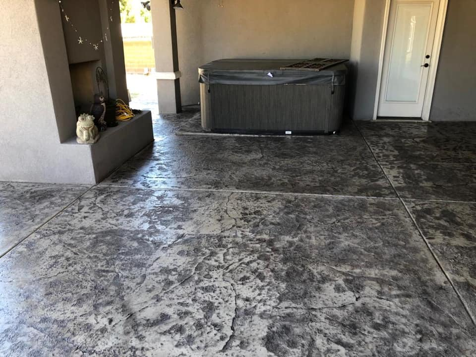 We installed this gem of a patio for a new home in the Roseville area