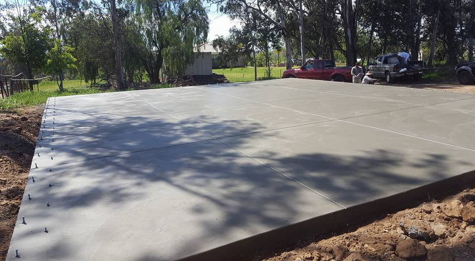 concrete foundation for a large shed