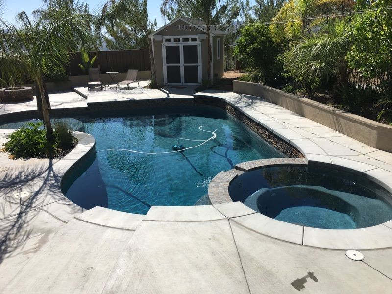 Concrete pool deck we installed in 2020